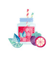smoothie with lime grapefruit and mangosteen vector image vector image