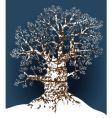 snow oak vector image vector image