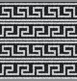 stylized waves black and white mosaic seamless vector image vector image
