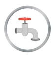 Tap icon in cartoon style isolated on white vector image vector image