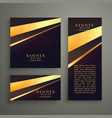three luxury banners card design set vector image vector image