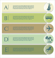 Travel infographics options banner vector image vector image