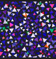 triangle confetti seamless texture vector image vector image