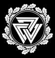 valknut ancient pagan nordic germanic symbol and vector image vector image