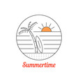 summertime icon with thin line beach vector image