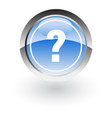 glossy icon web questions vector image