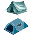 tents camping summer rest tents vector image