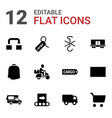 12 delivery icons vector image vector image