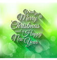 2015 Merry Christmas and happy new year background vector image