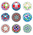3d digital wireframe spherical objects made using vector image vector image