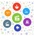 7 production icons vector image vector image