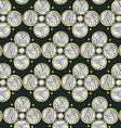 Abstract Circles Dark Endless Seamless Pattern vector image vector image