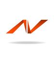 Abstract letter N logo website site icon