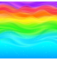 Abstract rainbow waves background vector image vector image