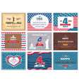 american national holiday 4th of july greetings vector image vector image