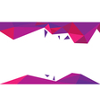 background trangle purple vector image vector image