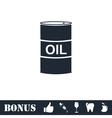 Barrel oil icon flat vector image vector image
