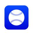 baseball icon digital blue vector image vector image
