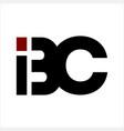 bc bic ibc initials company logo vector image vector image