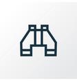 binocular outline symbol premium quality isolated vector image