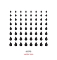 black drop icon on a white background vector image vector image
