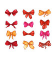 bows for hair flat set vector image vector image