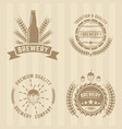 brewery set of colord labels vector image