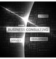 BUSINESS CONSULTING vector image vector image