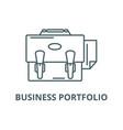 business portfolio line icon business vector image vector image