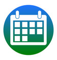 calendar sign white icon in vector image vector image