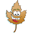 Cartoon Happy Leaf vector image vector image