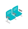 Chairs waiting area isometric 3d icon vector image