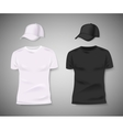 Collection of men black and white t-shirt and vector image vector image