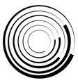 concentric circles geometric element radial vector image vector image