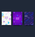 covers with minimal design cool geometric vector image vector image