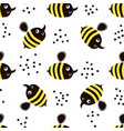 cute childish seamless pattern with bee perfect