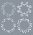 decorative round frame and label set vector image vector image