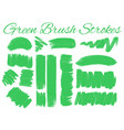 different design of brush strokes in green vector image vector image