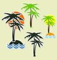 Different palm vector image