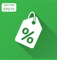 discount shopping tag icon in flat style discount vector image vector image