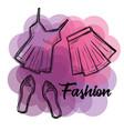 female fashion clothes icon vector image