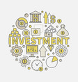 financial investments round vector image vector image