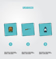 flat icons kerosene weapon bag and other vector image vector image
