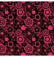 Floral seamless pink background vector image