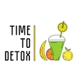 Food water and detox vector image vector image