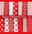 Fourteen valentines day seamless patterns
