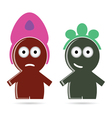 funny people icon color vector image vector image