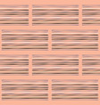 geo stripes pattern hand salmon and white vector image vector image