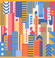 geometric city background vector image vector image