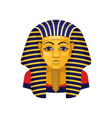 golden mask of tutankhamun pharaoh of ancient vector image vector image